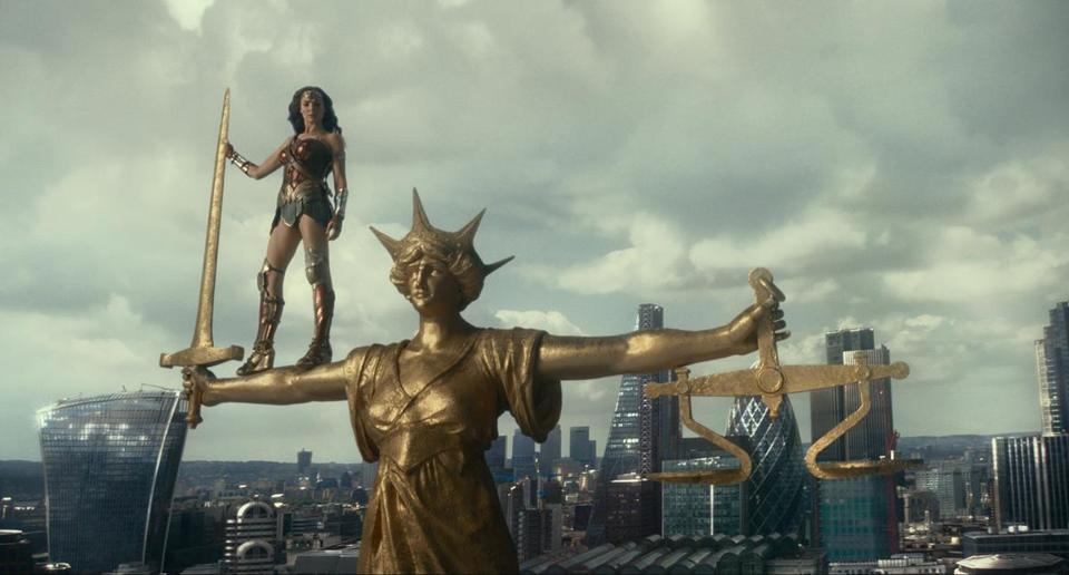"Gal Gadot as Wonder Woman in Zack Snyder's ""Justice League."""